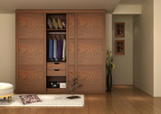 Inserted Sliding Door Wardrobe-C014