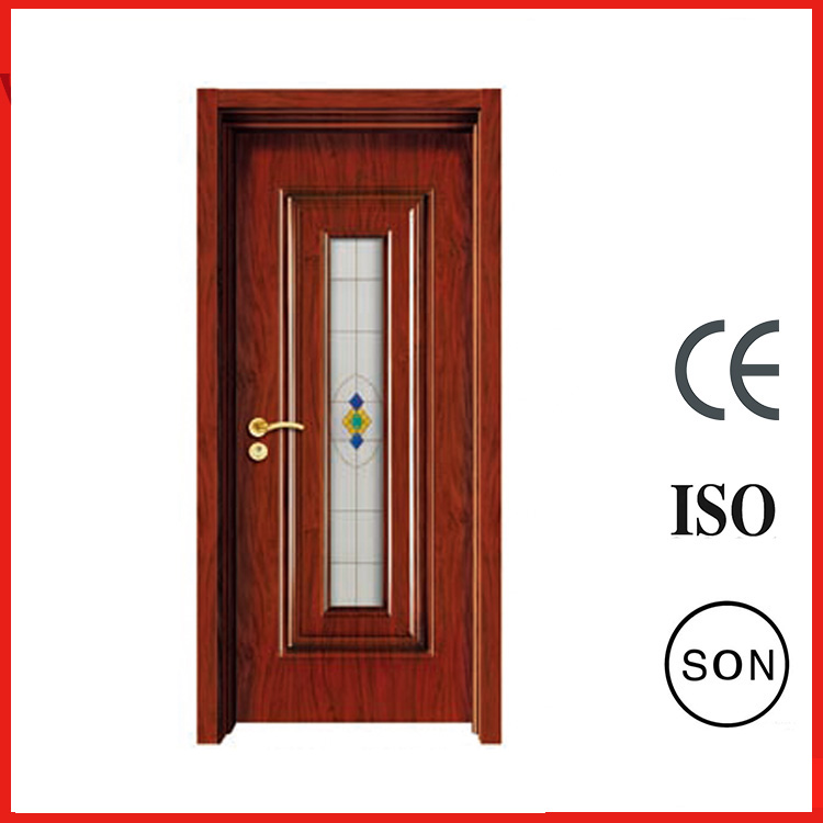 Beautiful 70mm Front Interior Red Solid Steel Glass Doors New Style For Sales